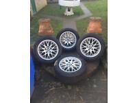 Bmw alloy wheels set of 4 with brilliant tyres 16 inch £150
