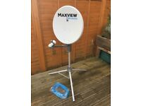 MAXVIEW PRECISION MXL012 55cm satellite dish with TWIN LNB