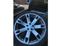 "Range Rover Sport 22"" Overfinch alloys fits Vw transporter"