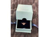 Engagement ring - beautiful morganite & diamond rose gold ring