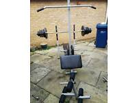 Bench and weights approx 100kg