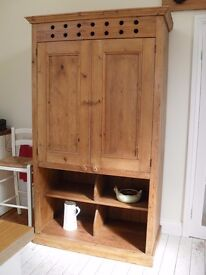 Antique pine larder cupboard with lots of storage. Would add charm to any kitchen. Good condition