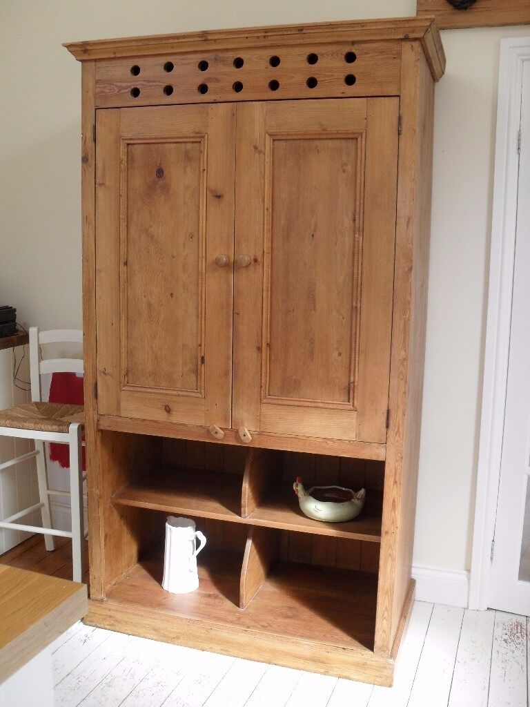 Antique pine larder cupboard with lots of storage. Would add charm to any  kitchen. - Antique Pine Larder Cupboard With Lots Of Storage. Would Add Charm