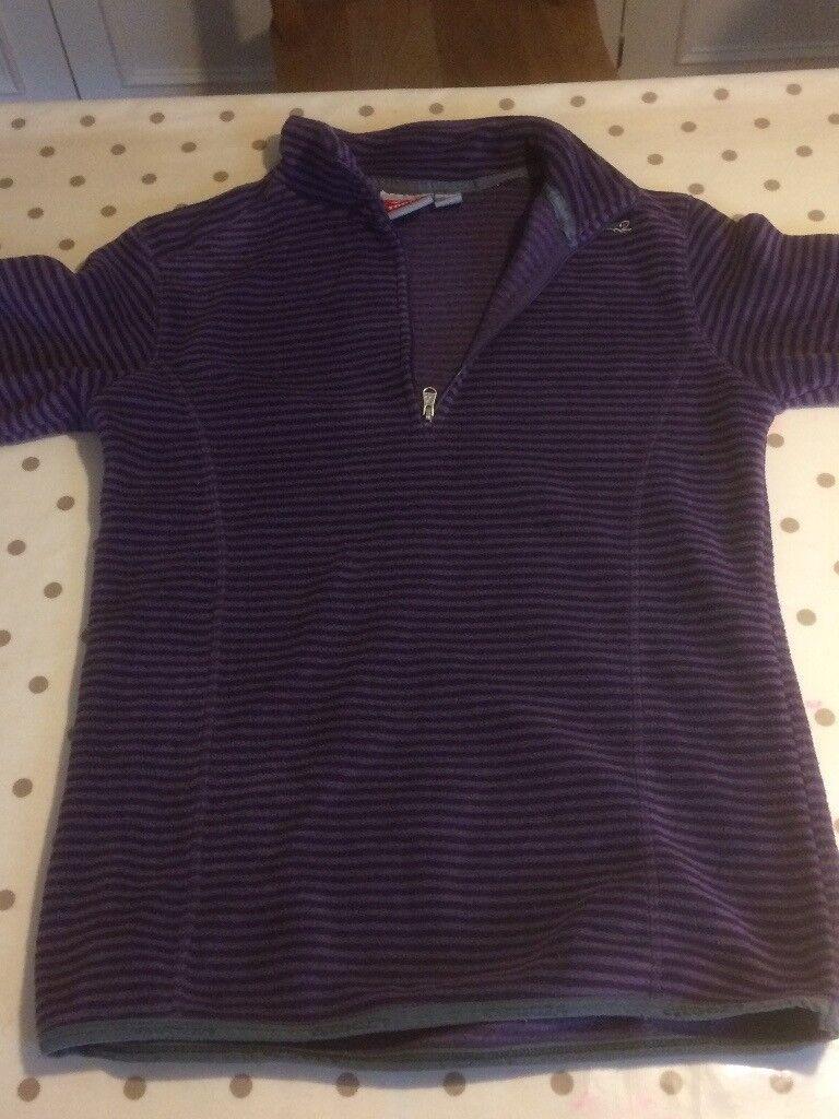 Purple ski fleece. aged 8-10 in excellent condition
