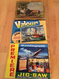Trio of vintage jigsaws