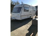 Avondale Mayfly 2 bearth caravan with motor mover installed