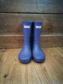 Hunter Wellies, kids size 10