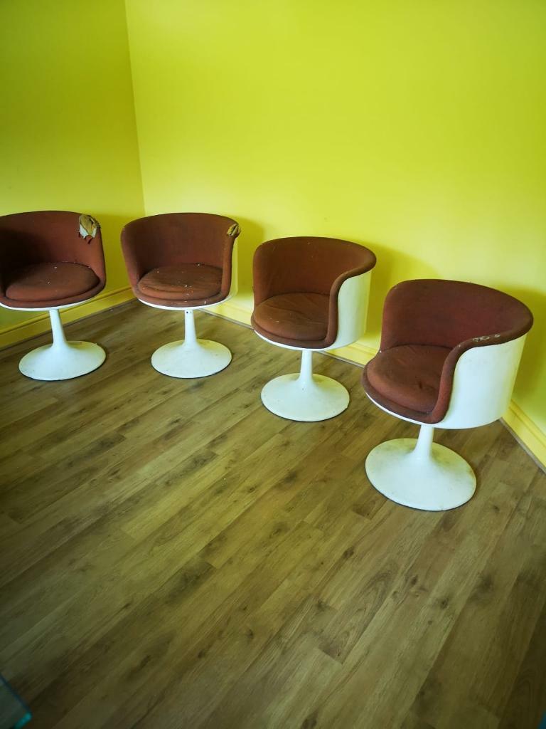 Phenomenal Original 1970S Knoll Style Kitchen Chairs X4 In Pembury Kent Gumtree Download Free Architecture Designs Rallybritishbridgeorg
