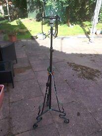 Vintage Standard Lamp, wrought iron
