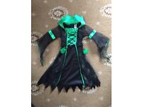 Children's Halloween Witch Costume For Ages 3-4 Years.