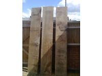 Old heavy-duty wood shelving - Garage - 40.5cm x 244cm (18mm)