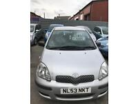 Toyota Yaris 1 liter petrol 5 doors hatchback 5 seater family car 2003 03 plate