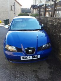 Seat ibiza 1.2L car for sale blue, bargain
