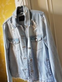RIVER ISLAND DENIM JACKET SIZE 12 NEW WITHOUT TAGS