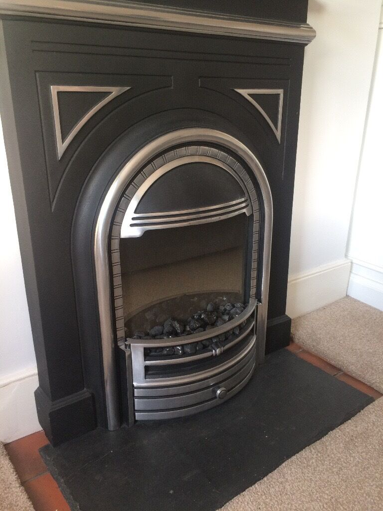 elegant victorian style electric fireplace with coal and flame