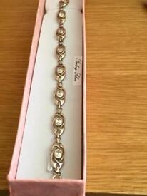 Genuine sterling silver bracelet hallmarked