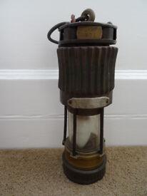 ANTIQUE HAILWOOD MINING SAFETY LAMP