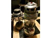 Pair of old tilley lamps