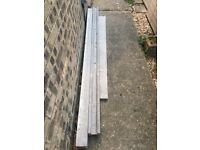 8ft Concrete Posts x 2 & 6ft Gravel Boards (3 bags post Crete Included)