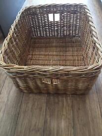 Large wicker basket £10