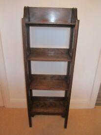 Vintage Solid Oak Bookcase Bookshelf Bookshelves Very Neat 1930s