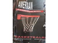basketball ring with net, brand new