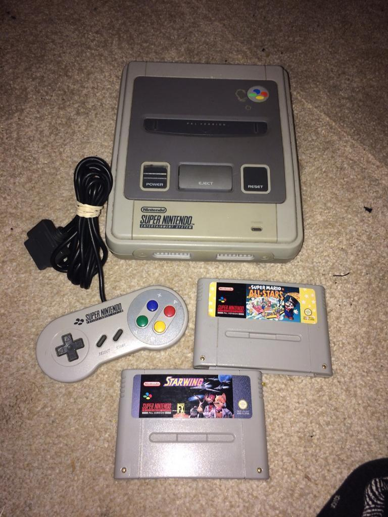 Snes Super Nintendo console and games