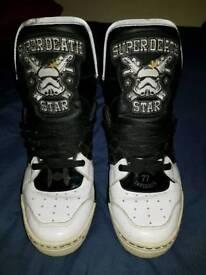 Rare Adidas super death star high tops.