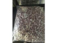 Boux avenue size 8-10 cheetah print midi robe