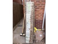 Concrete reinforced gravel boards
