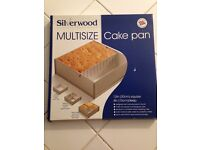 Silver Multisize Cake Pan 12in x 12in