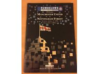 REDUCED PRICE   Football Programme   Manchester United V Nottingham Forest   1992   Final