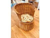 Child's wicker chair - very good condition