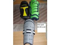 shin pads for football or other sports £1.50 a pair collection from didcot