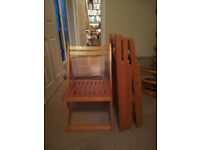 4 Foldaway Wooden Chairs for Sale