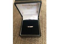 Platinum wedding ring size j-k