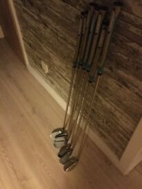 Ladies graphite shafted Irons and 4 rescue
