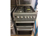 HOTPOINT GAS COOKER 50cm WIDE DOUBLE OVEN WITH GRILL FREE DELIVERY AND WARRANTY
