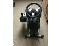 Logitech g27 steering wheel with stand £130