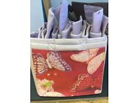 GLTC Storage boxes butterfly pattern x 6 for £10