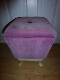 Dressing Table Stool with Storage in Seat