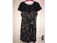 Women's Lipsy black lace dress size 10/12