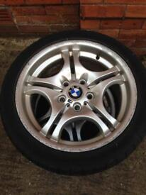 BMW MSPORT ALLOYS AND TYRES- REDUCED TO £60 FOR QUICK SALE