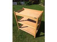 Mamas and papas baby changing table solid wood