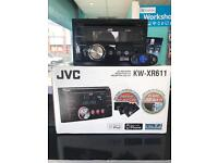 JVC kw-xr611 double din car stereo
