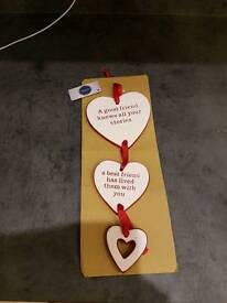 Hanging hearts ornaments gift