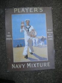 A PLAYERS NAVY MIXTURE TOBACCO POSTER 18X12 INCHES