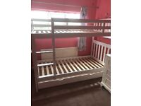 Aspace White Wooden Bunkbeds