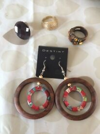 Rings and new pair of earings