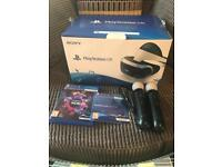 PlayStation VR with VR Worlds and controllers
